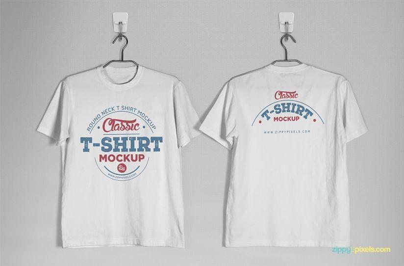 Round Neck T-Shirt Mockup | Free Mockups | Pinterest | Mockup ...