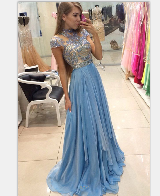 4347e97f39c Light Blue Prom Dress