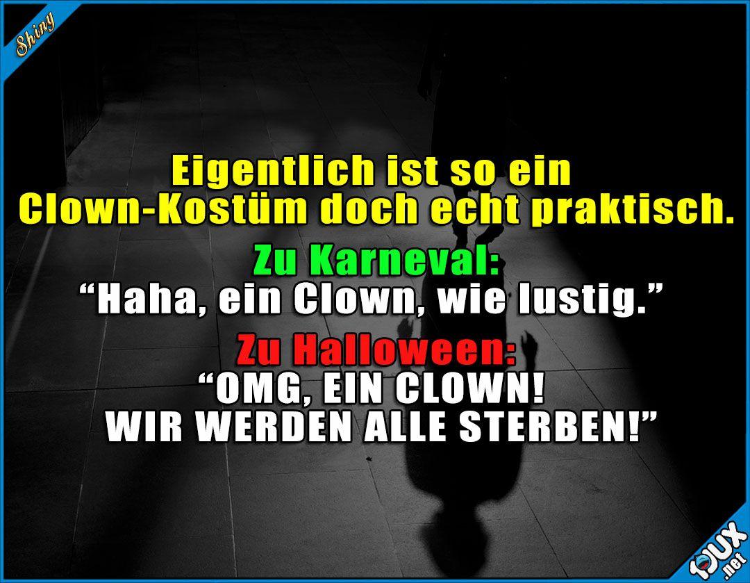Immer Passend Verkleidet P Clown Horrorclown Karneval Fasching