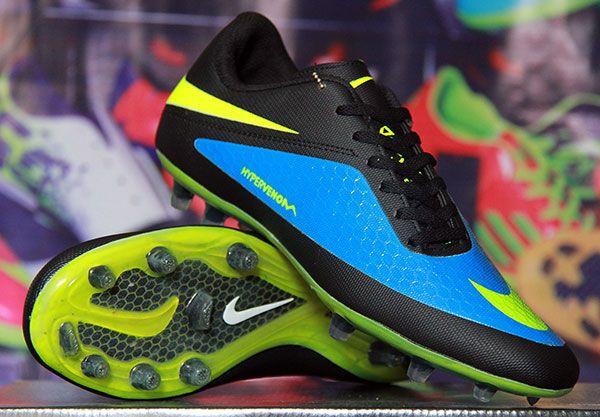 Sepatu Bola Nike Hypervenom Hitam Biru Kw Super Rp 180 000 Bb