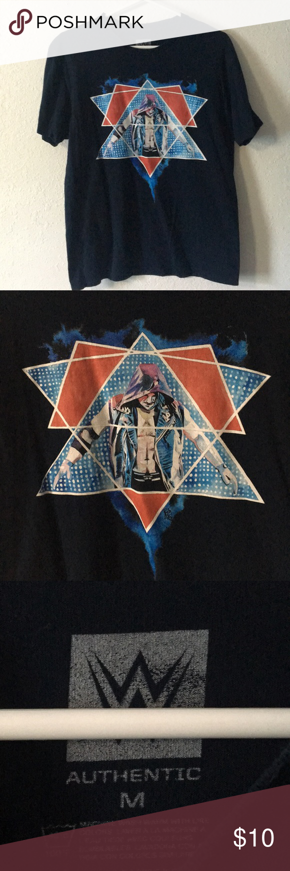 AJ Styles Official WWE TShirt Wwe t shirts, Wwe shirts