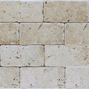 Creamy Subway Tile Or A Cut Stone Like Beige Honed Travertine Tumbled