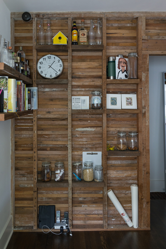 What We Did In Seattle Oh Joy Wood Wall Design Stud Walls Craft Shed