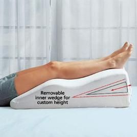 A leg elevator is a great way to take pressure off your veins and allow  them to rest after a long day on…   Foot remedies, Swollen feet remedy,  Lymphedema treatment