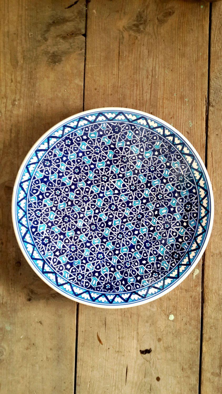 Hand Made Turkish Ceramic Plate / Wall Decor / iznik by Turqu50 & Hand Made Turkish Ceramic Plate / Wall Decor / iznik by Turqu50 ...