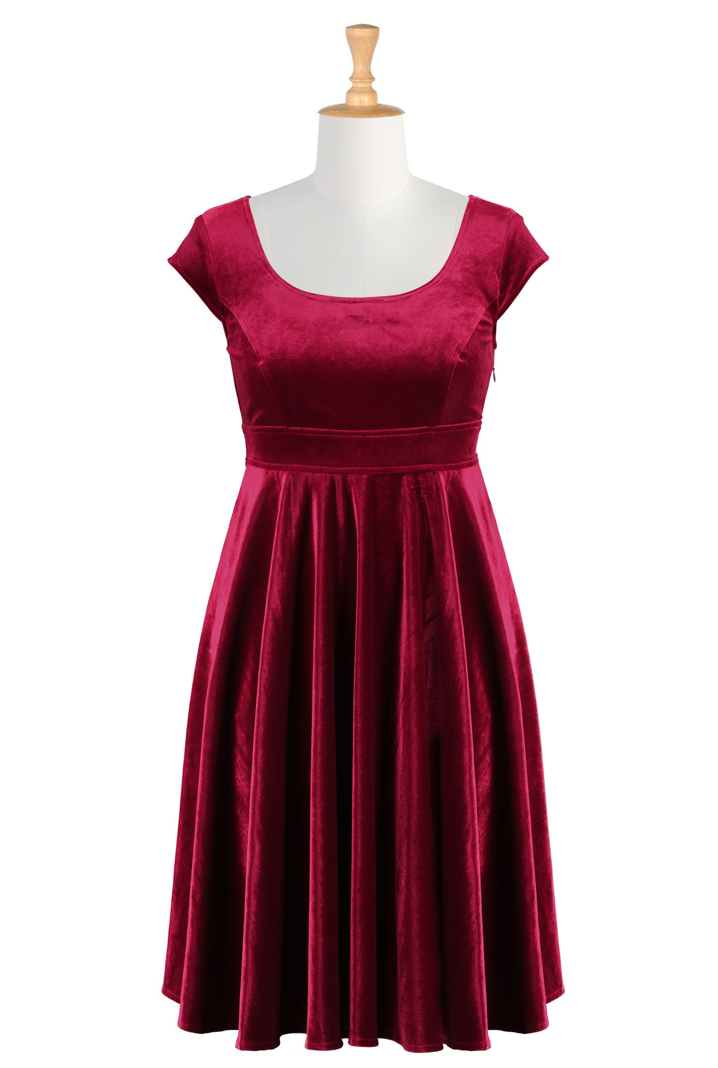 Red Velvet Dresses, Cocktail Dresses For Plus Sizes Shop women's ...