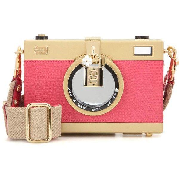 979a22bbe Dolce & Gabbana Camera Case Leather Shoulder Bag ($2,185) ❤ liked ...