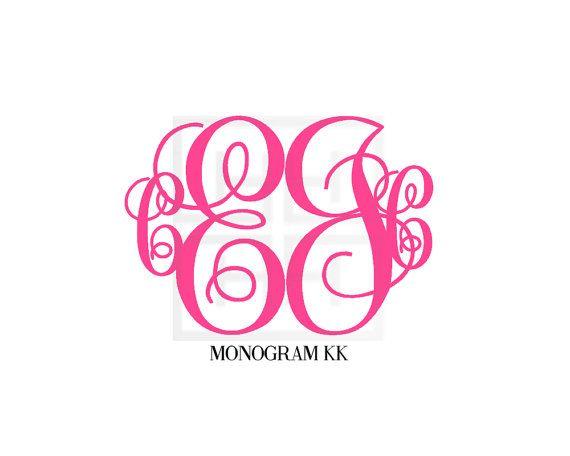 4 Initial Monogram 4 Letter Monogram by HeatherLeeMonograms