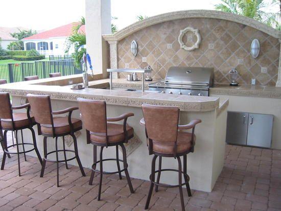 Outdoor kitchen idea outdoor kitchen Pinterest Kitchens