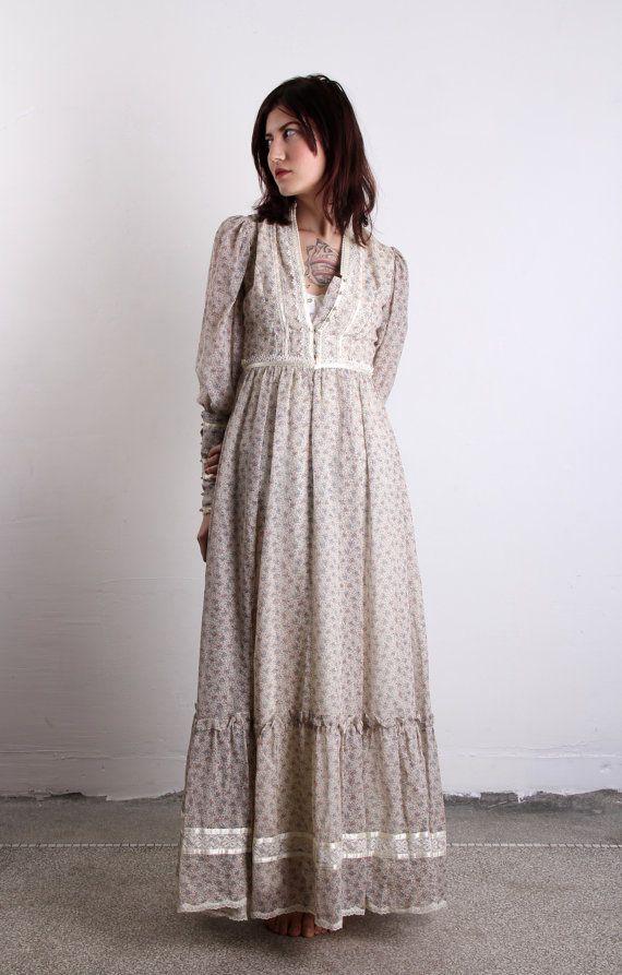 Vintage Gunne Sax Dress 1960s Boho Summer Gown By Veravague