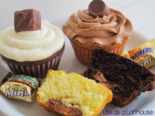 Candy Bar Cupcakes