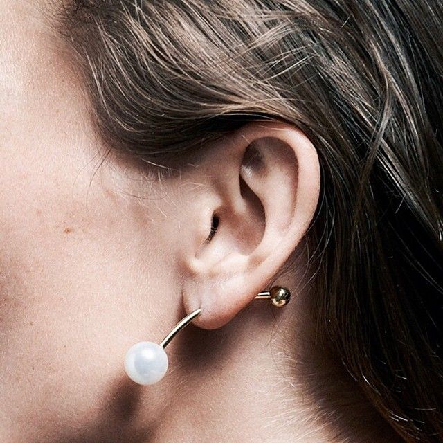 Sometimes minimal speaks louder, like this ear candy by Sophie Bille Brahe.