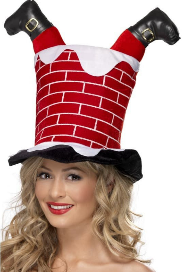 Chimney With Legs Santa Hat Fun And Creative Party Hat Idea