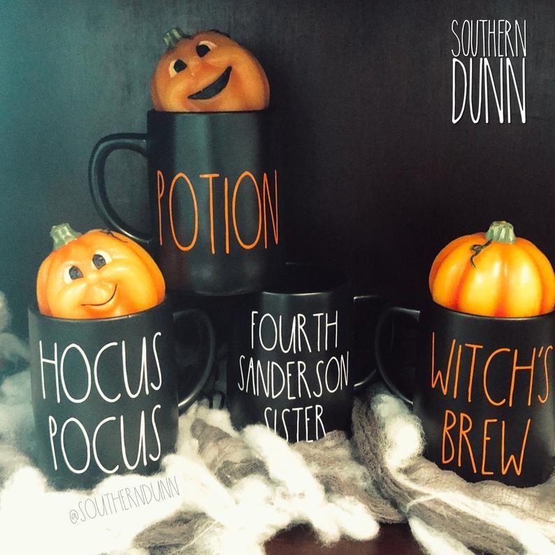 RAE Dunn style Spooky Vinyl Decal Sticker-À faire soi-même Halloween Verre de vin//bière//mug
