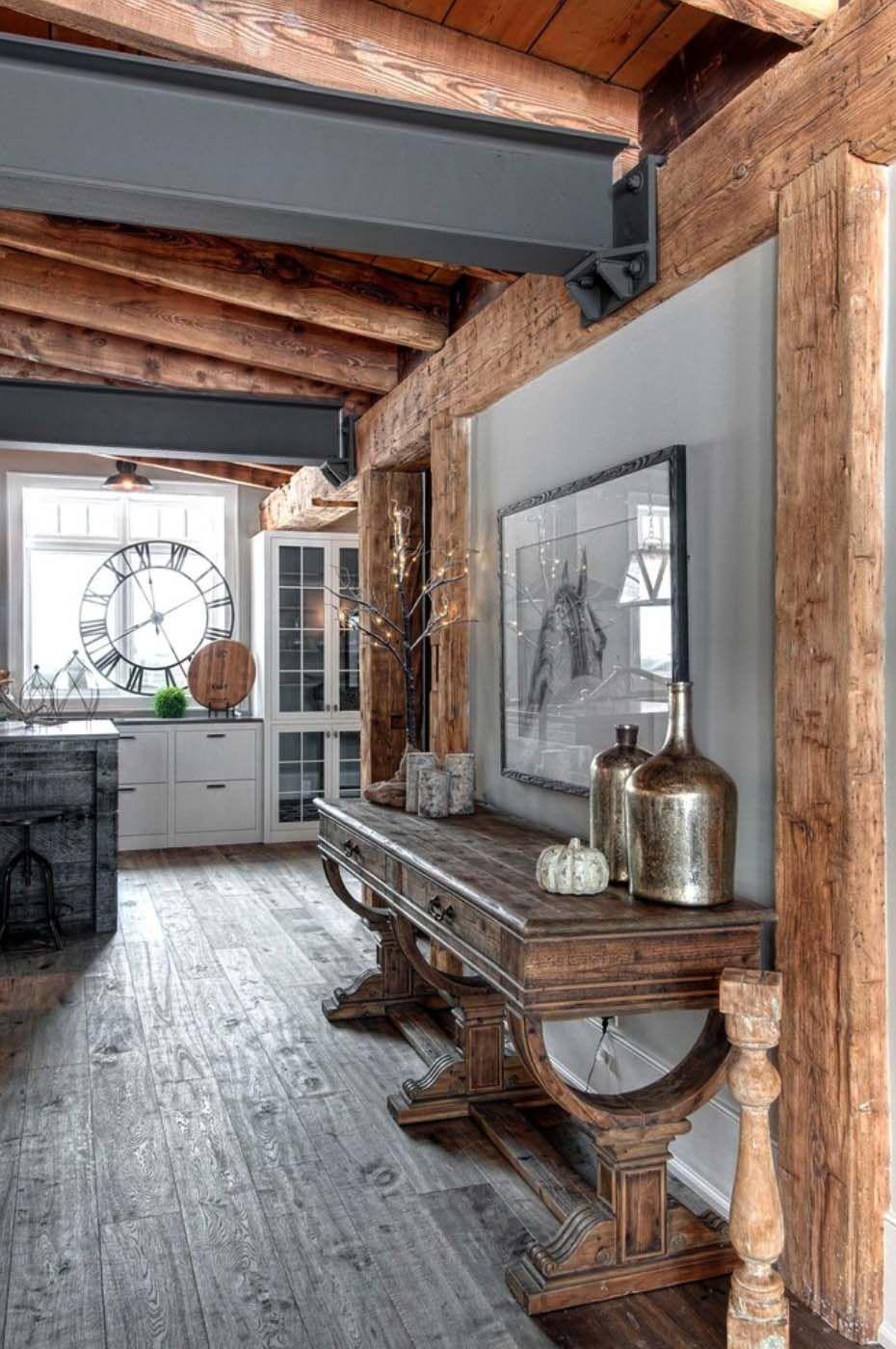 Luxury Canadian Home Reveals Splendid Rustic Modern Aesthetic Rustic House Modern Rustic Homes Rustic Living Room