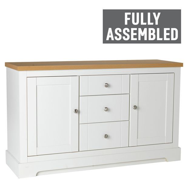 Buy Heart Of House Westbury 2 Door 3 Drawer Sideboard