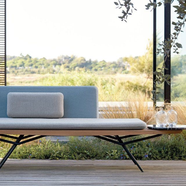 Un banc de jardin cosy et design