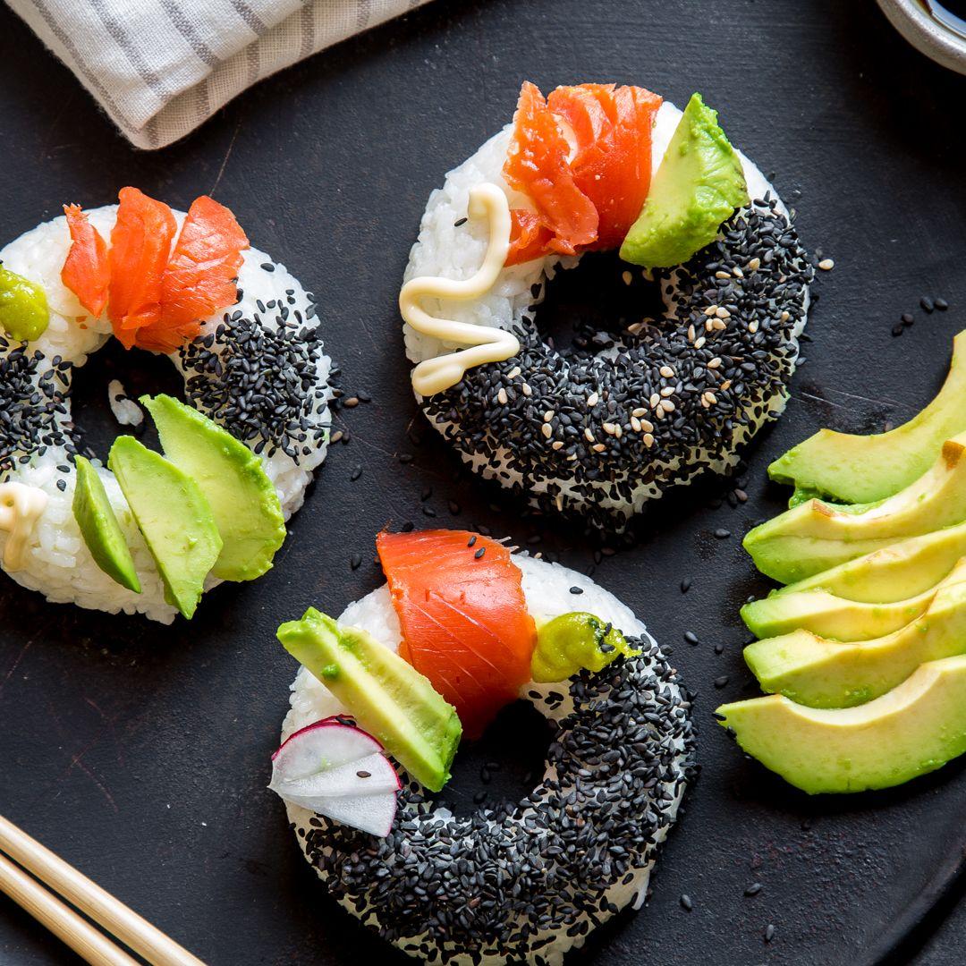 es ist zeit f r einen neuen look sushi donuts rezept. Black Bedroom Furniture Sets. Home Design Ideas