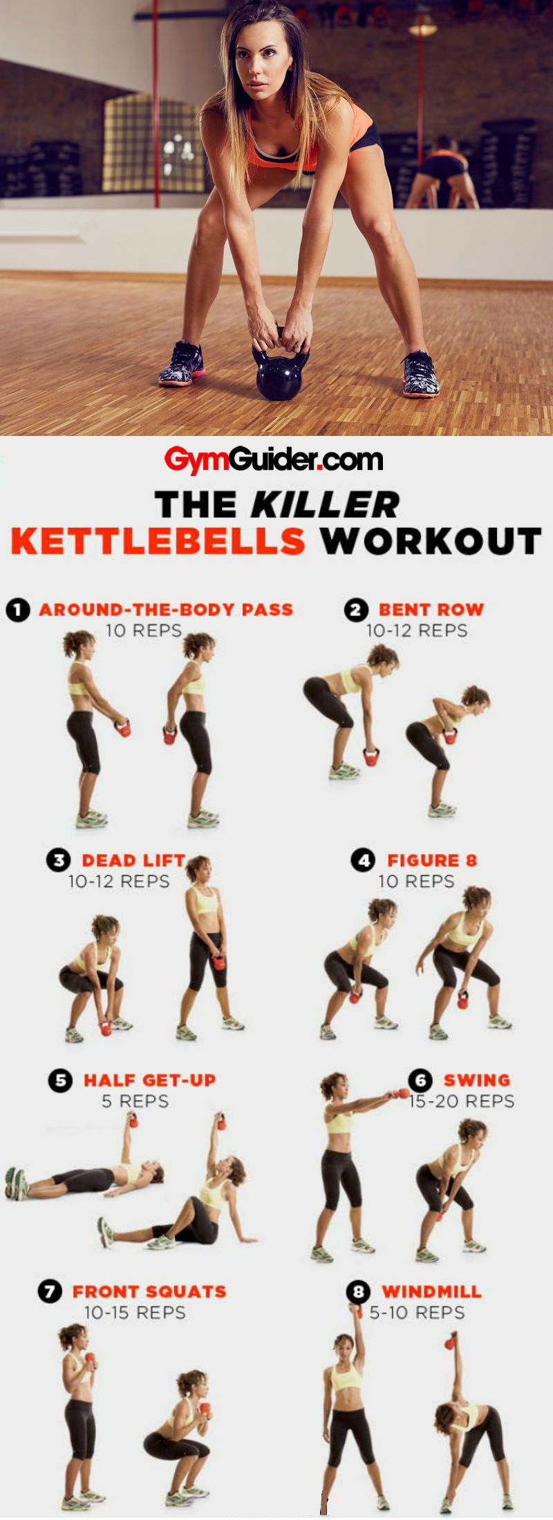 7 Most Effective Kettlebell Exercises for Toned Arms and Back - GymGuider.com