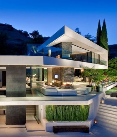 Expansive modern residence in hollywood hills casas for Casas modernas hollywood
