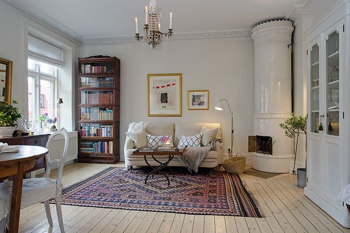 Swedish Style urban-country-style-swedish-apartment-design-country-style