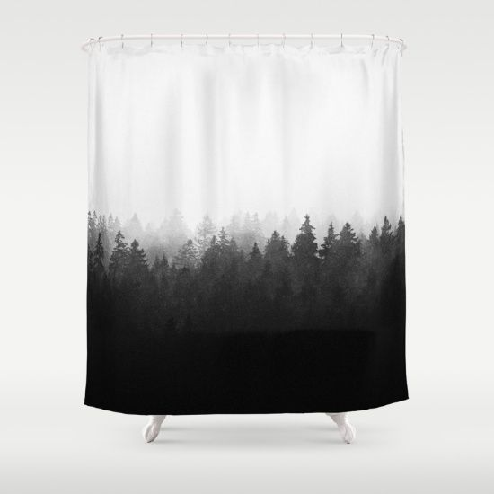 A Wilderness Somewhere Shower Curtain By Tordis Kayma Society6 Curtains White Shower Curtain Black White Shower Curtain