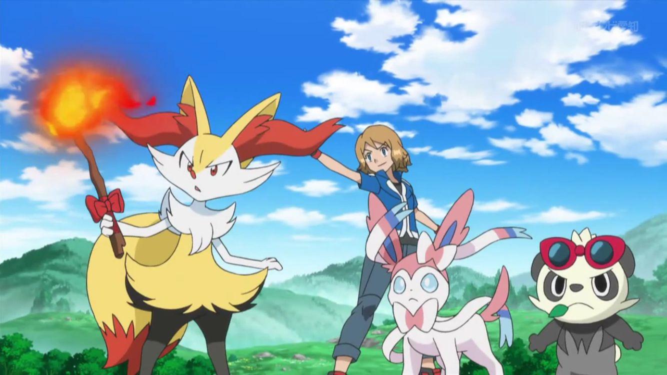pokemon xyz anime episode 22 serena and satoshi ash serena