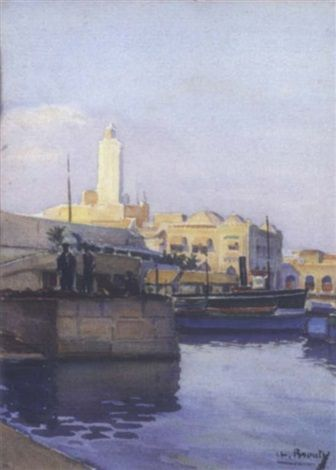 Peinture Port d'Alger - Vue d'Alger by Charles Brouty