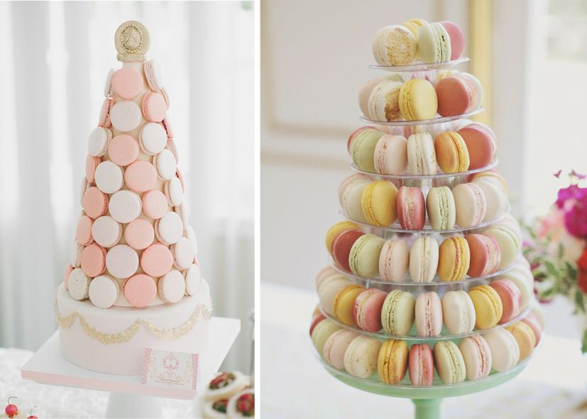 macaron and marshmallow tower diy - Google Search ...
