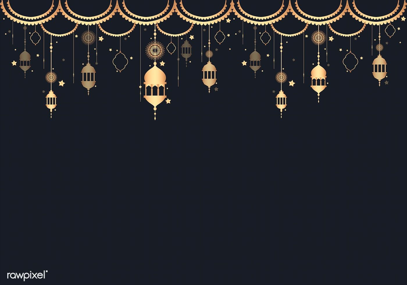 Download Premium Vector Of Lantern Pattern A Blank Black Background 555659 Space Illustration Lantern Designs Lanterns