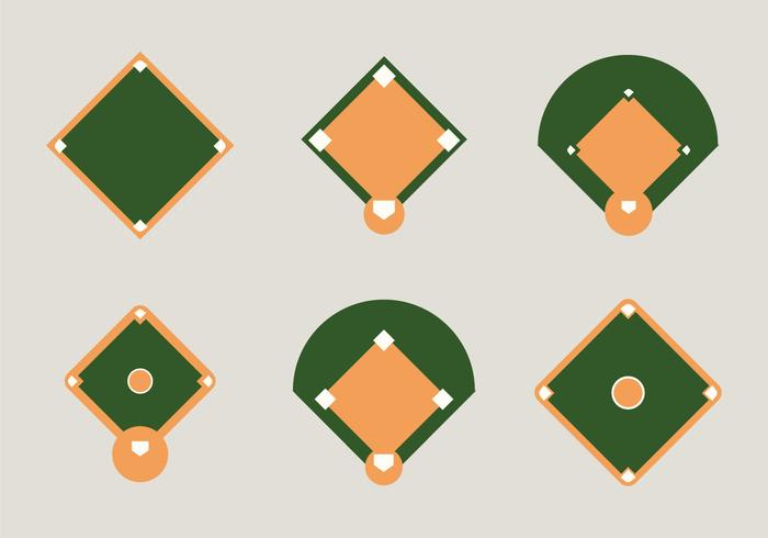 Free Baseball Diamond Vector Illustration Diamond Vector Vector Illustration Baseball Diamond