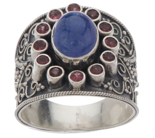 Artisan Crafted Sterling Limited Edition 3.20ct Gemstone Ring