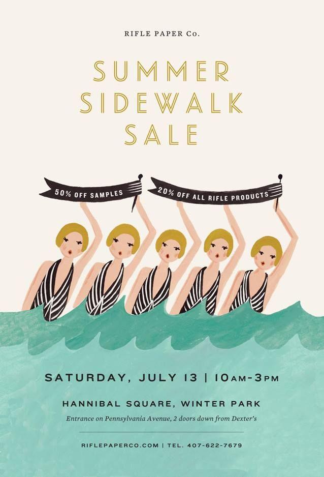 rifle paper summer sidewalk sale ich liebe sch ne plakate und gute illustrationen kunst und. Black Bedroom Furniture Sets. Home Design Ideas