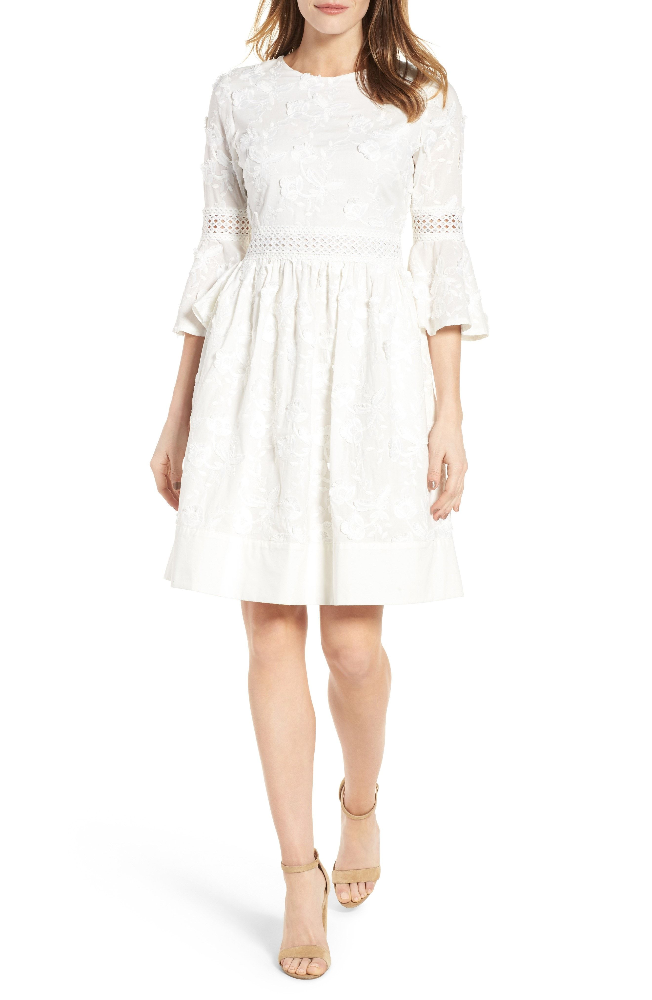 Fit and flare dress wedding  Shop These Little White Dresses for Your PreWedding Events
