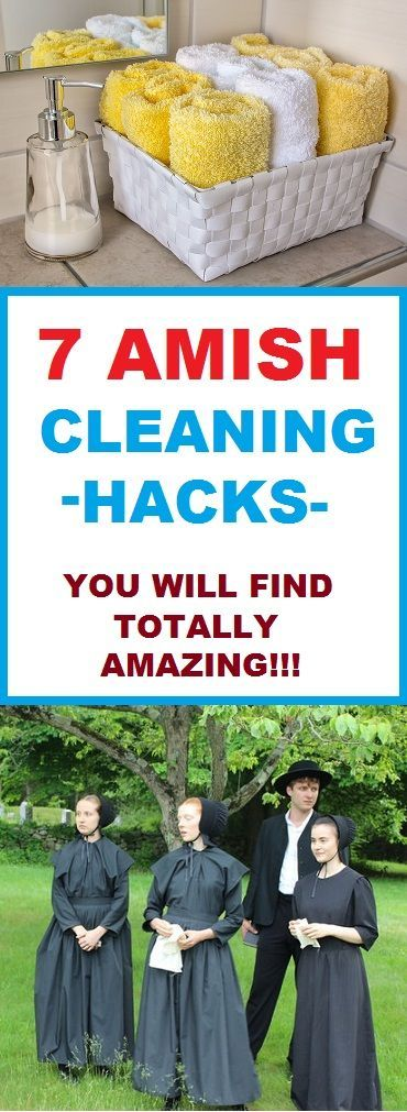 Amazing cleaning hacks from the Amish lifestyle. These are really smart hacks that can help to prevent illnesses from regular cleaning agents and practices that slowly deplete our respiratory system. use these for a safer cleaning and longer life.