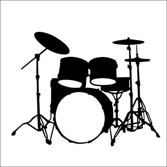 This Is Larger Version Of The Our Drum Set Decal The Dimensions Are 27 X 20 3 4 Drum Drawing Drum Set Drums