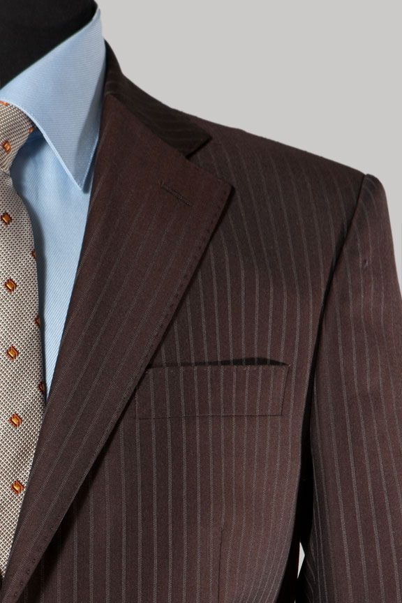 Ferrecci Men's Chocolate Brown Pinstripe Suit by Ferrecci ...