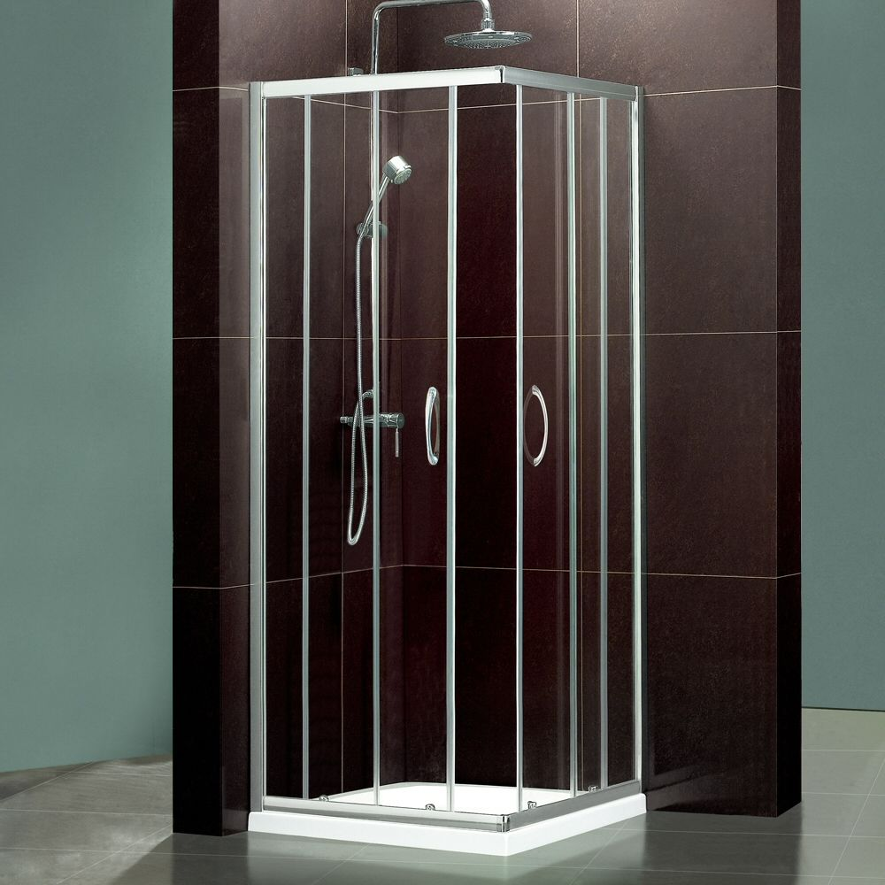 760mm or 800mm- Feint Square Corner Entry Shower Enclosure - Image 1 ...