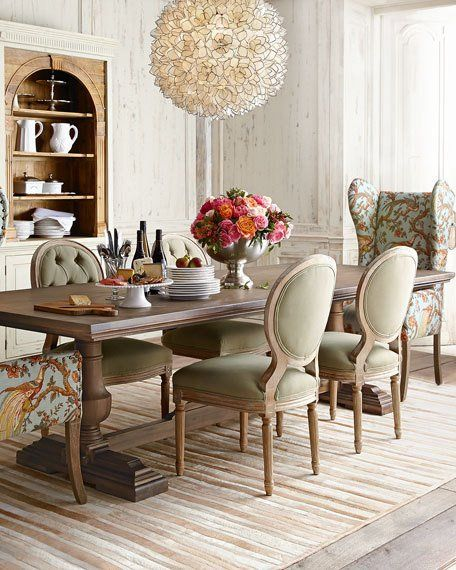 Evelyn Dining Table Horchow Now Furnish It French