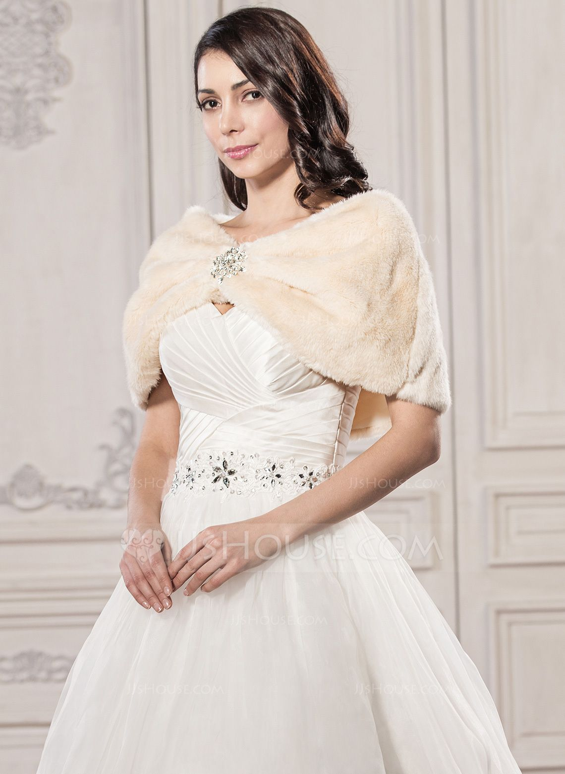 f6baf451c Faux Fur Wedding Shawl (013059519) - JJsHouse | scarves | Wedding ...