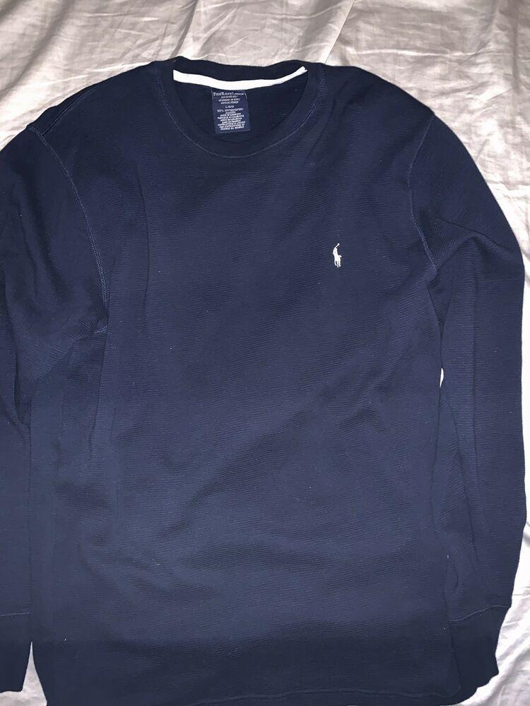 e593a219 Mens Ralph Lauren Polo Shirt Sleepwear Thermal Long sleeve L Large Blue 624  #fashion #clothing #shoes #accessories #mensclothing #sleepwearrobes (ebay  link)