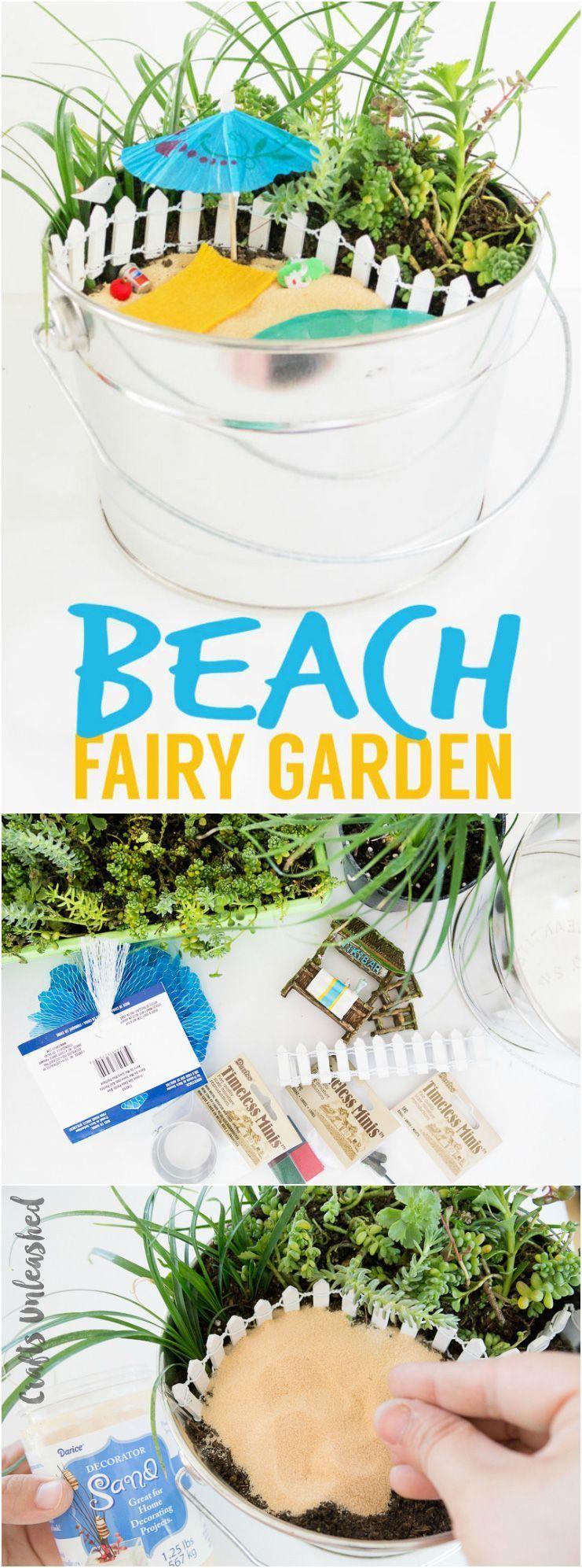 Make your own diy beach fairy garden fairygardening a fairy