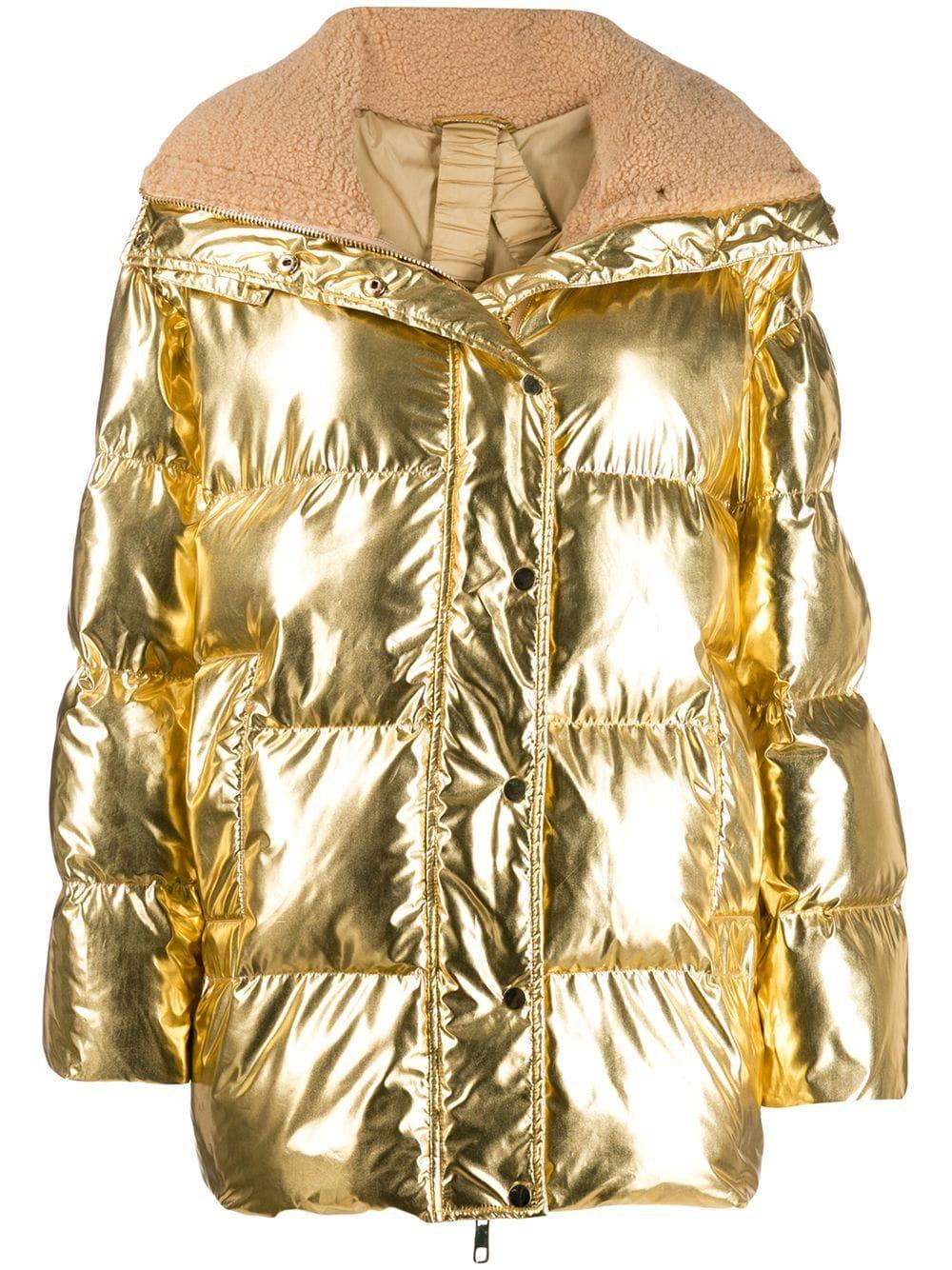 P A R O S H Metallic Puffer Jacket Farfetch Puffer Jackets Jackets P A R O S H [ 1334 x 1000 Pixel ]