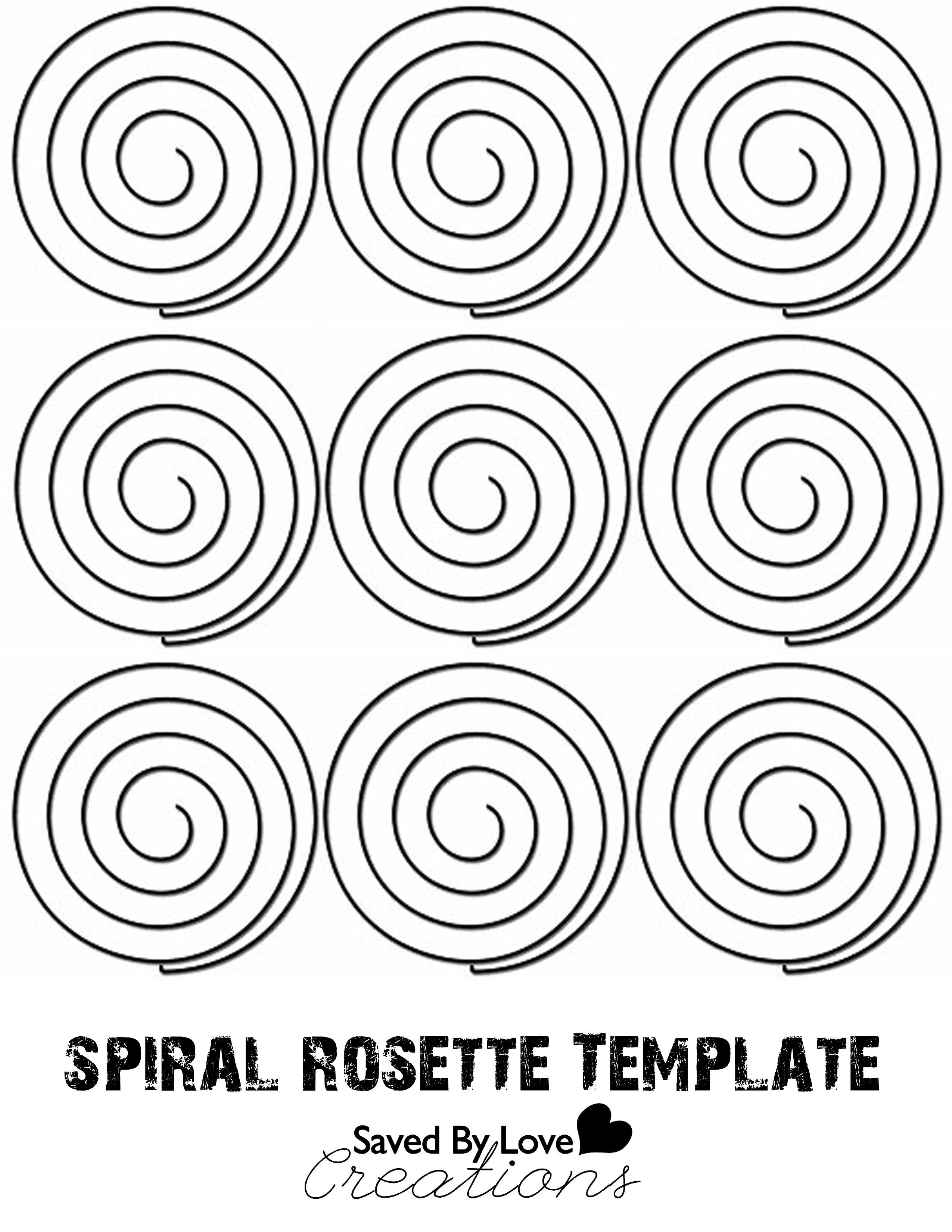 Free Quilling Templates Locker Mirror With Spiral Rose