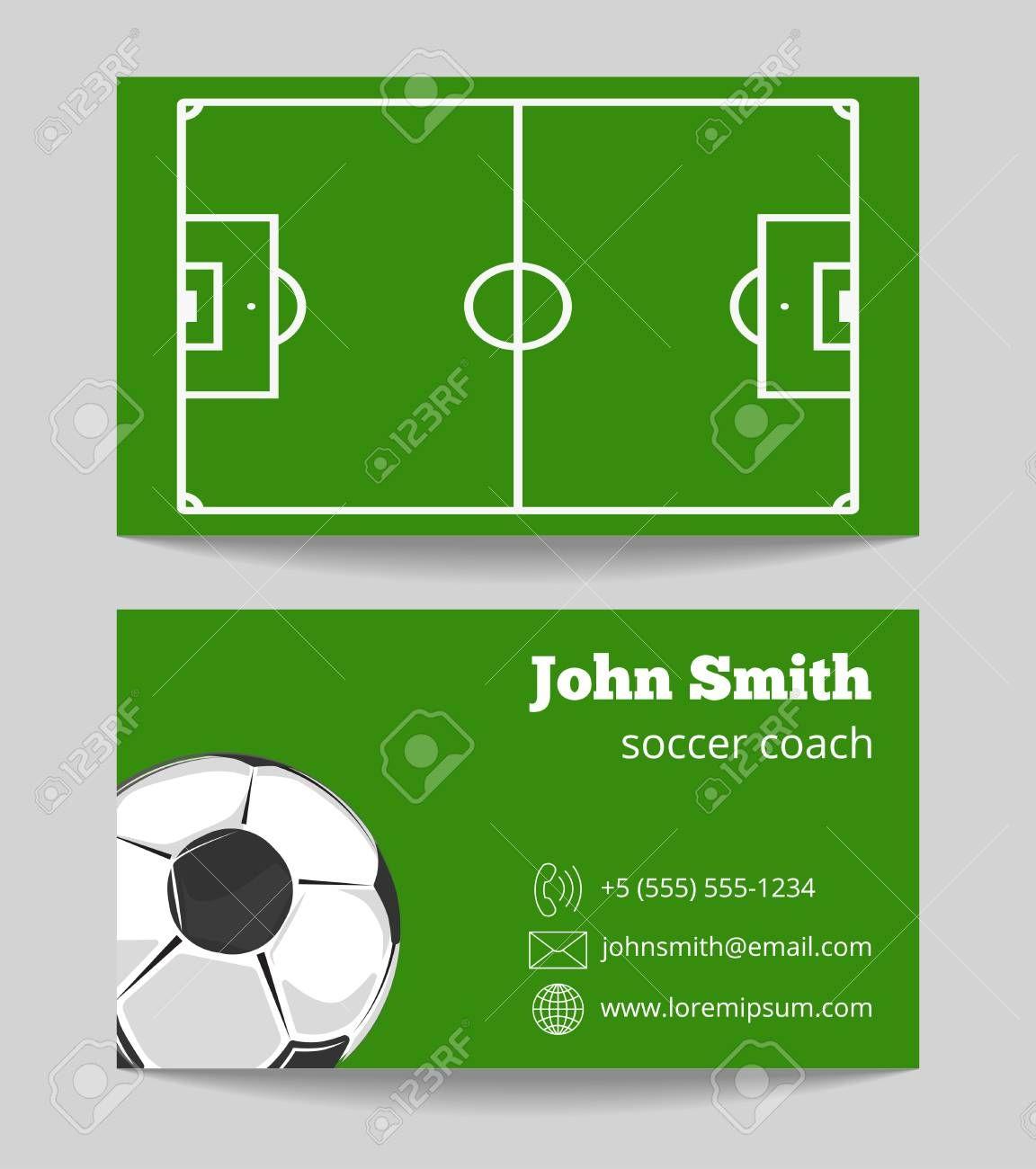 Soccer Green Field Business Card Template Football Field On Regarding Soccer Referee Game Card Template Soccer Referee Business Card Template Football Field