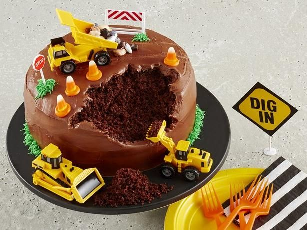 Construction Site Cake Recipe Toy trucks Betty crocker and Cake