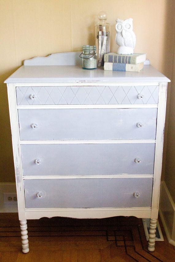 Paris Grey Shabby Chic Dresser By Sweettreefurniture On Etsy