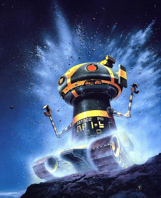 70s Sci Fi Art Chris Foss: A Very Excited Robot From Chris Foss