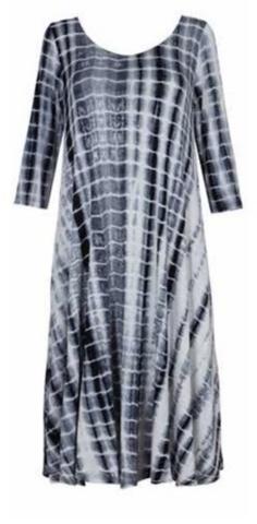 a878b8d6bdc2e Alembika 3 4 Sleeve Tiedye dress – Artragous Clothing Tie Dye Dress