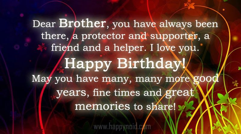 Happy Birthday Quotes For Brother Birthday Wishes For Brother